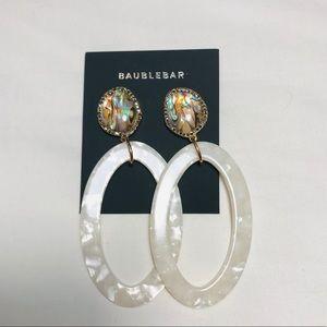 BaubleBar Jewelry - Baublebar TRISHA RESIN HOOP EARRINGS